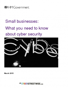 BIS small businesses cyber guide March 2015