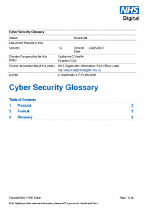 Cyber security glossary