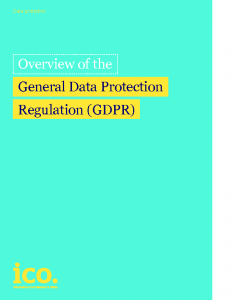 Overview of the GDPR