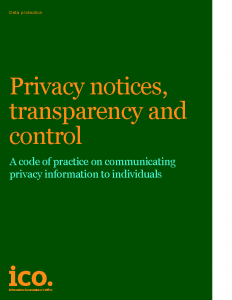 Privacy notices transparency and control
